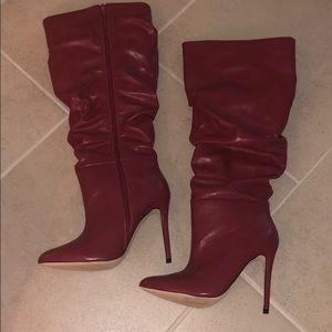 ShoeDazzle - hadlee heeled WC boots size 8 -Red